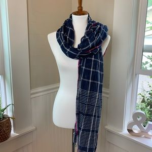 American Eagle Outfitters Accessories - American eagle scarf - blue plaid w/ pink - light